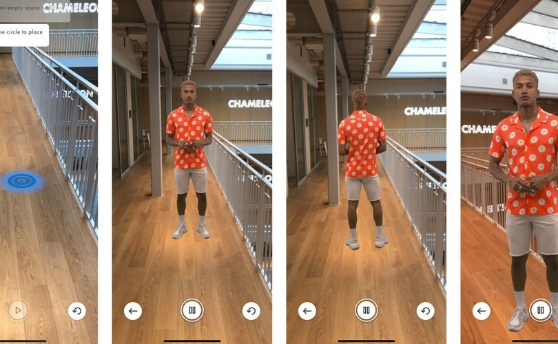 Asos augmented models in their shopping app (source: standardUK)