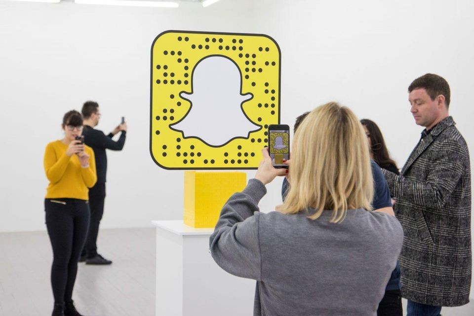 Lego and Snapchat popup with augmented reality {source: LEGO Wear & Forbes}